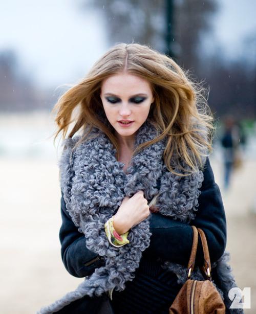Vlada Roslyakova at Paris Fashion Week FW12 [x]