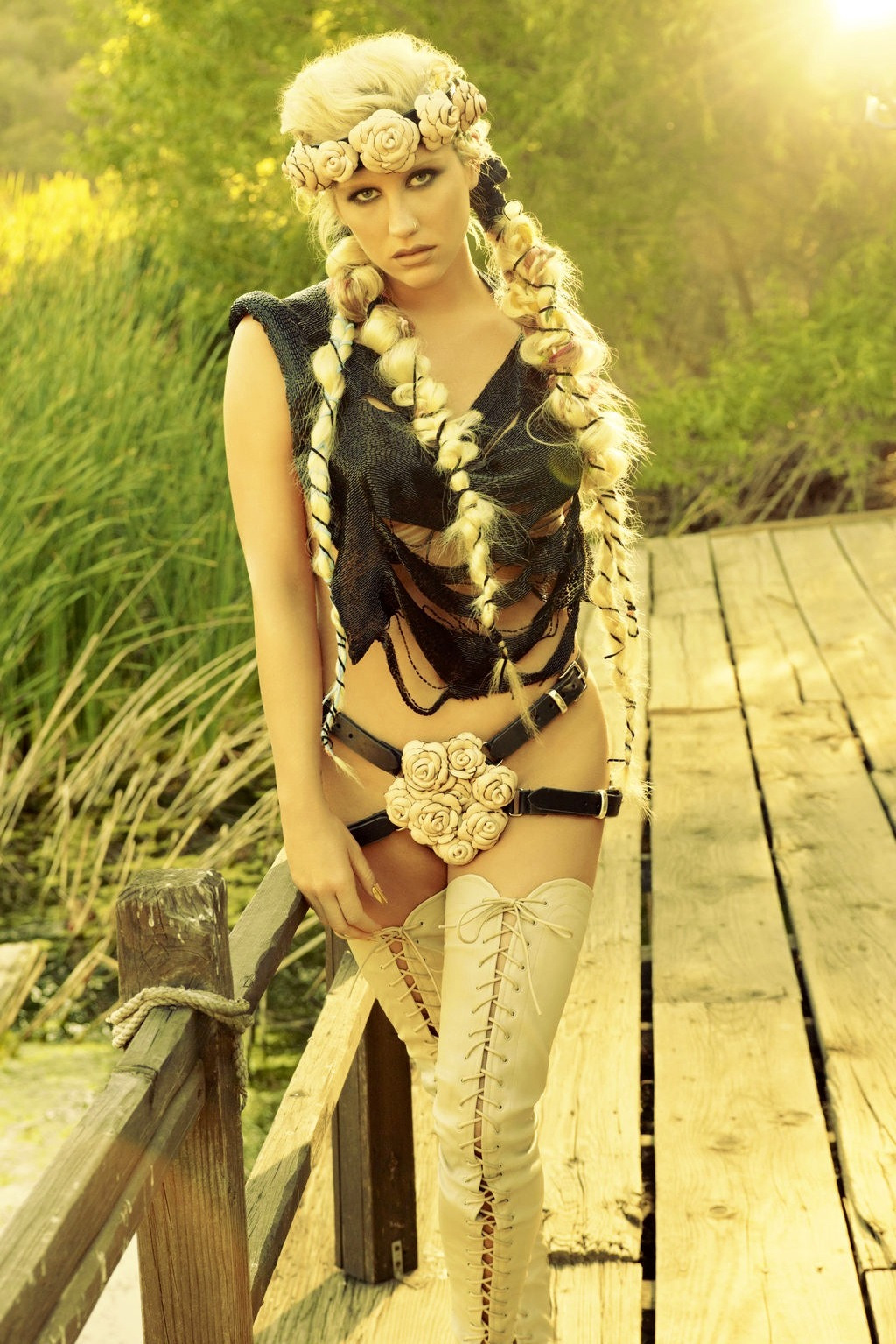 Ke$ha Photoshoot BTS Warrior