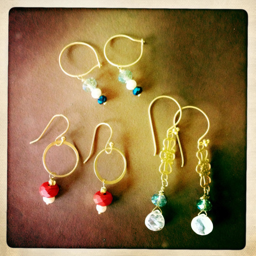Venice Sisters is making jewelry. Busy making earrings for our big holiday sale.