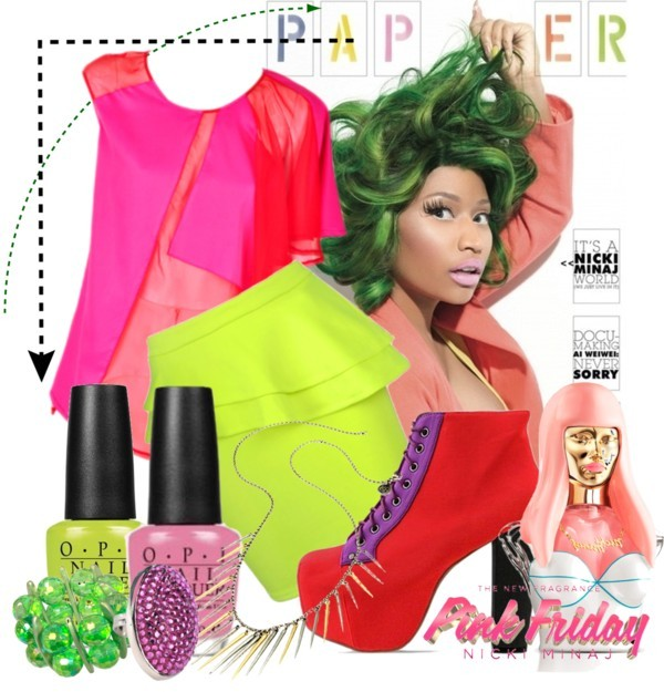 nicki minaj, my idol by maharanirbekah featuring platform shoes ❤ liked on Polyvore