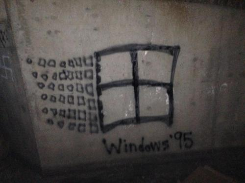 "daddyfuckedme:  ""A friend and I took care of a graffitied swastika in our town the only way we knew how."""