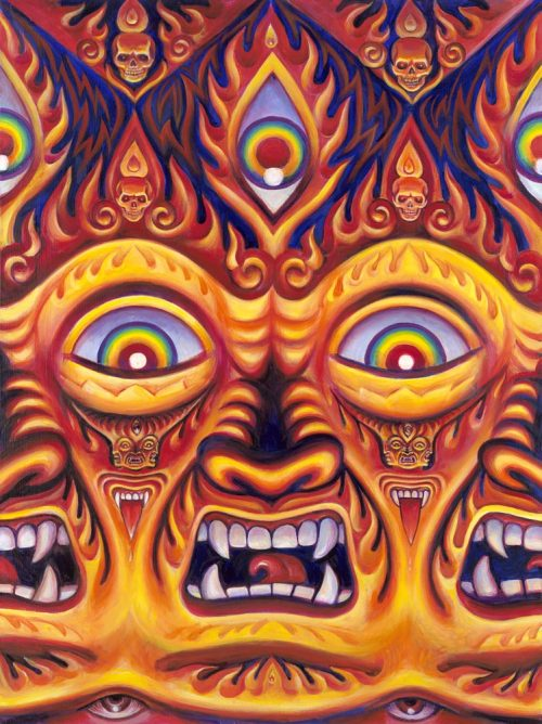 victoriousvocabulary:  THEOMENY [noun] the wrath of God. [Alex Grey - Wrathful Deity]