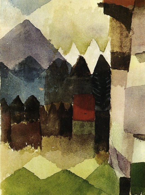 Paul Klee, South Wind in Marc's Garden, 1915