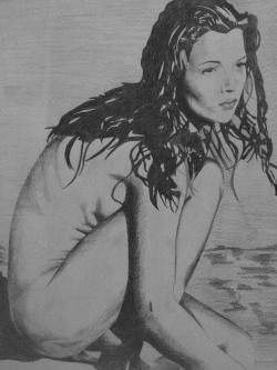 Pencil Drawing of Kate Moss