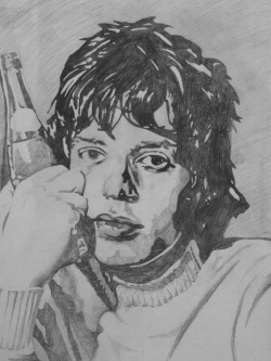 Pencil Drawing of Mick Jagger