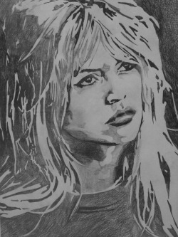 Pencil Drawing of Brigitte Bardot
