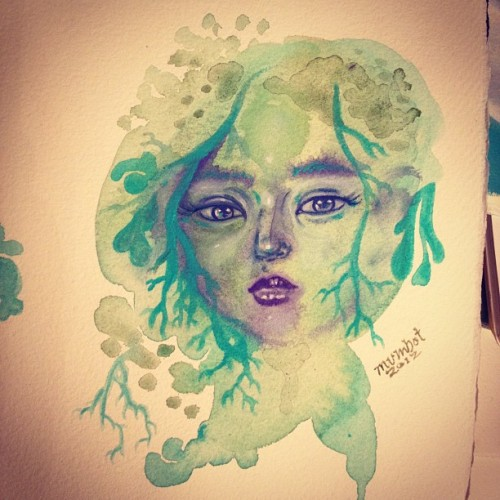 #mosd #lichen pixie #mumbot #illustration #art #girl #face