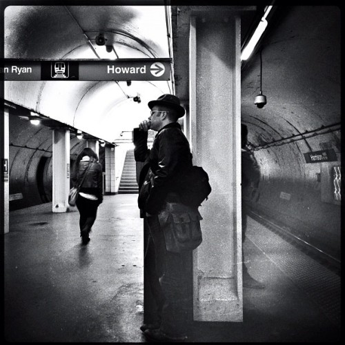 Waiting for the EL #iphone #hipstamatic #snapseed #chicago  (at CTA - Harrison)