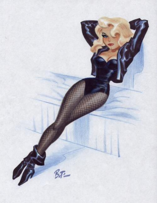 bobthedino:  black canary.  by the fantastic Bruce Timm