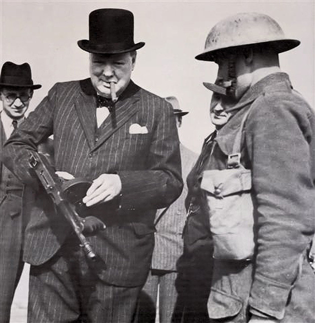 Churchill Tommy Gun, 1940 (via Retronaut)