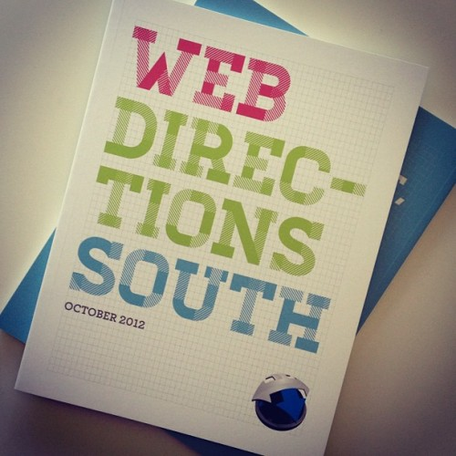 So excited! The @webdirections program's I designed and illustrated just turned up! #design #illustration #webdirections