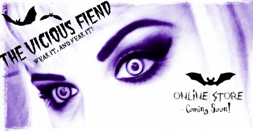 The Vicious Fiend - Online Store Coming soon! (Please Reblog post) Like our facebook page - we would love your feedback on what you would like to see in store. - https://www.facebook.com/TheViciousFiend Cheap and Cheerful prices. Talking about wholesale with Kreepsville and Restyle at the moment. Website (underconstrution) http://theviciousfiend.wix.com/theviciousfiend#!home/mainPage Also can send feedback on the websites community forum, sign up for a chat :) ———————Please keep writing above————————————————