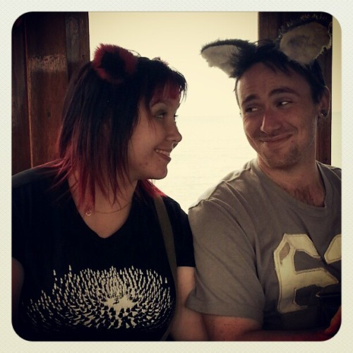 shellmeb:  My furry ear'd friends <3  I love my on tour ears…