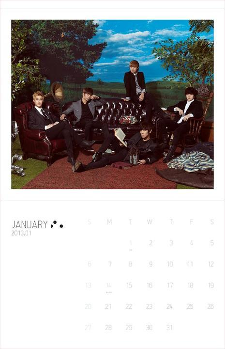 MBLAQ 2013 Seasons Greetings Special Wall Calendar : $54.00