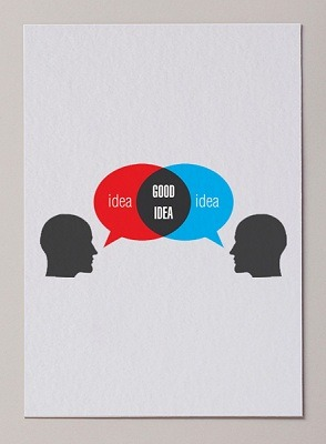 helloyoucreatives:  How brainstorming should work.