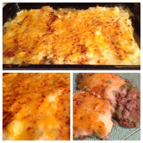 Shepherds pie for dinner