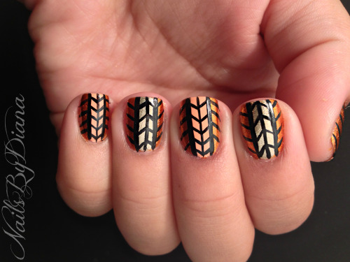 Tribal Print! And Short Nails
