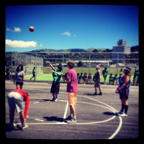 Teachers vs students b-ball game at lunch today 😁👍 #basketball #lifeofateacher #onlyatavalon #ballin #swoosh #instagood #school