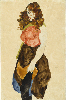 theartofrecovery:  Prostitute (Dirne) Egon Schiele (Austrian, 1890–1918) 1912. Watercolor and pencil on paper.