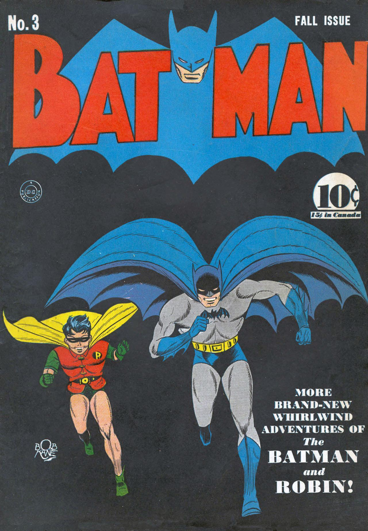 markrosehfx:  Classic Comic Book Covers: Batman #3 by Bob Kane and Jerry Robinson, Fall 1940