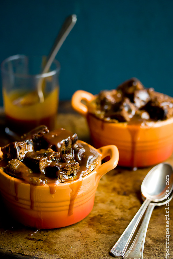 poorgirlporvida:  phoods:  (via Dark Chocolate-Espresso Pumpkin Bread Pudding with Salted Caramel Sauce)  All of my favorite flavors, in one. I can't even handle this right now.