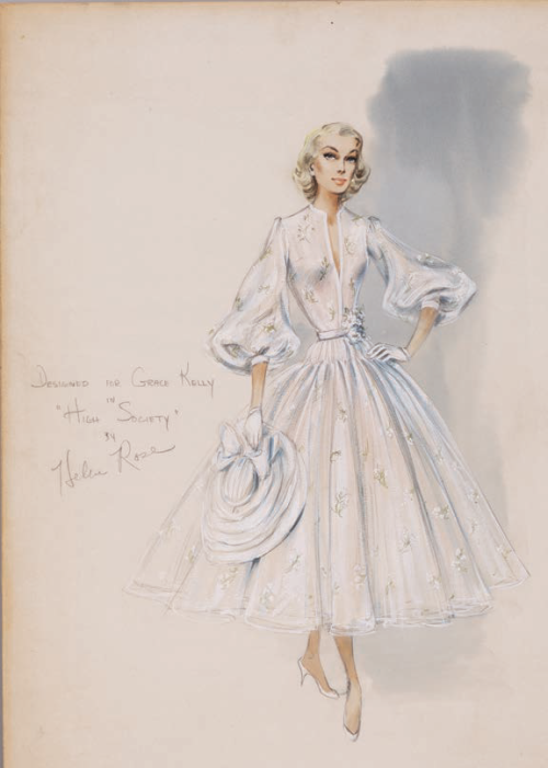 Costume design by Helen Rose for Grace Kelly in High Society (1955). From Profiles in History