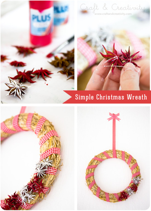 craftandcreativity:  How to make a simple straw wreath for Christmas. By Craft & Creativity.