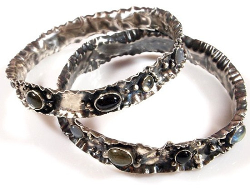 Katie's Signature Crinkle Bangles by Oblivion Jewellery on Flickr.