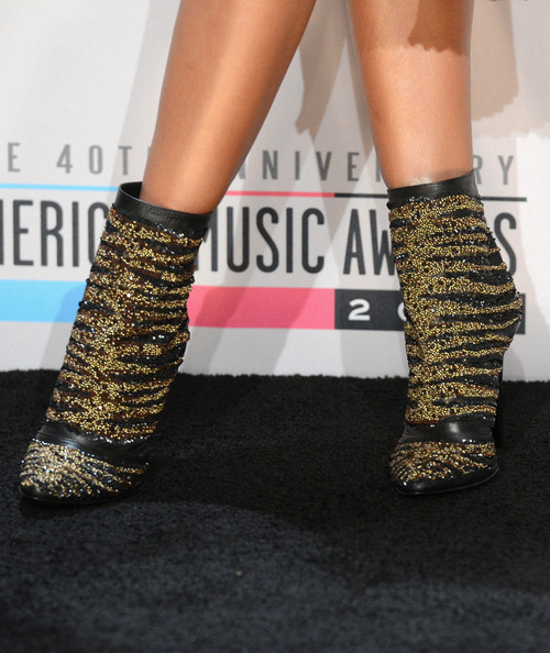 R&B singer Brandy wore a sparkling Barbari Bui ankle boots to the 2012 American Music awards