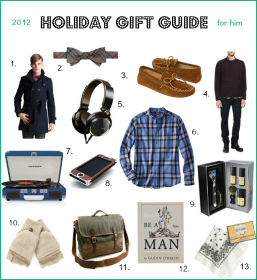 Style Me Grasie: HOLIDAY GIFT GUIDE FOR THE GUYS IN YOUR LIFEby Grasie Mercedes http://bit.ly/QctMyS