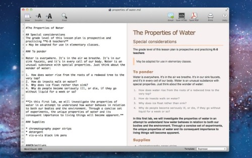 Markdown Pro is a Markdown editor for OS X with live preview that can export to HTML and PDF.  App Store   See also  Mou Marked