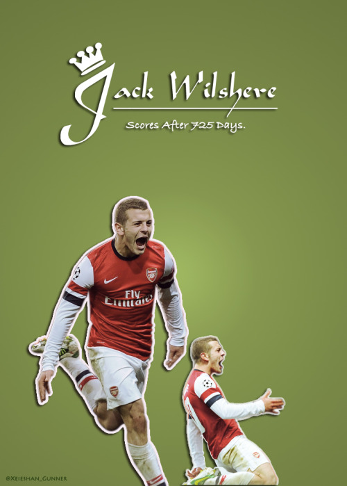 xeieshan:  Jack Wilshere Score After 725 Days <3 😍#Xeieshan_Gunner