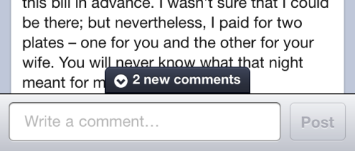 Facebook - On the mobile app, a notification tells you about new comments while you're writing a comment. /via Brian Grellmann