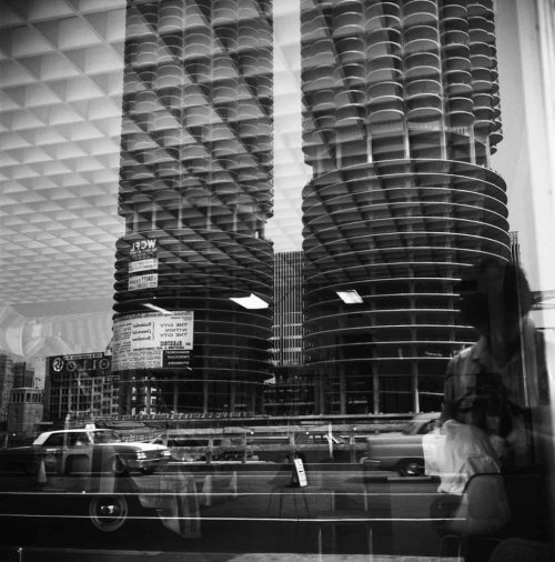 Marina City, Chicago (Self-Portrait, Reflection), 1965 — Vivian Maier