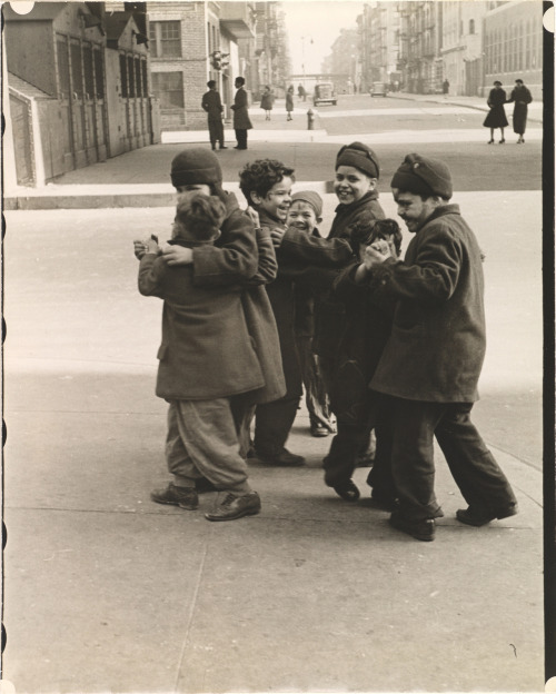 Thanksgiving, Boys Dancing, New York, 1942 photo by Helen Levitt
