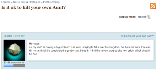 "bestofnanowrimo:  It's The Lion King, except Scar is an aunt  ""Keep in mind this is a very progressive lion pride"" is how I will sum up NaNoWriMo in one sentence for the rest of my life."