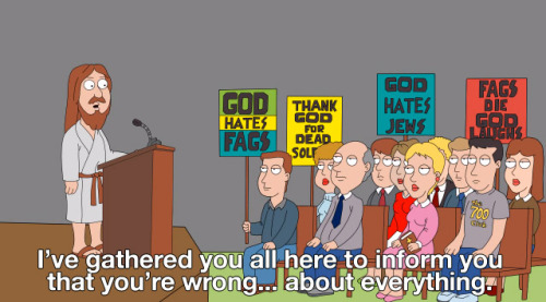 Family Guy gets it right for once  Because cults are stupid… religious, political, etc