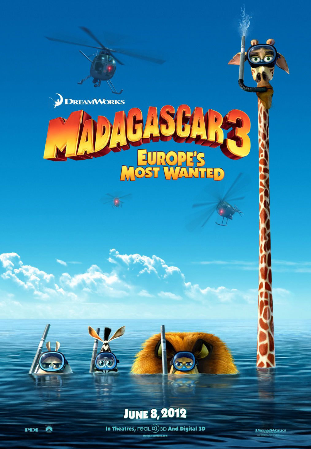 Madagascar 3: Europe's Most Wanted That thing where your relatives come over and the kids wanna watch their favorite movie. This is TERRIBLE! I mean, I wasn't expecting much, but it was just nonstop noise, I guess to cover up the lameness of the jokes and lack of story.