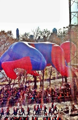 Spidey at the Thanksgiving Day parade! View from an apartment on Central Park West-View more DKNY PR GIRL on WhoSay