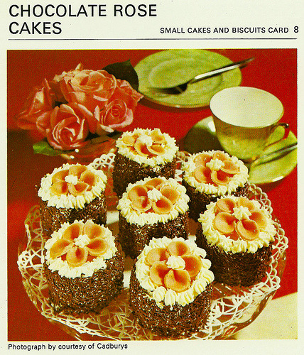 What's for tea mother ? Chocolate Rose Cakes.