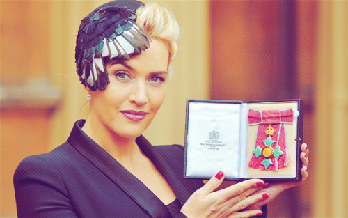 katefuckingwinslet:  Kate Winslet Honored With CBE By Queen Elizabeth II