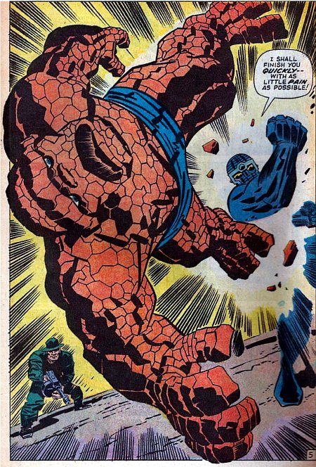 Kirby punch-out from Fantastic Four # 93, 1969.
