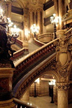 bluepueblo:  Stairway, Opera House, Paris, France photo via fairytales