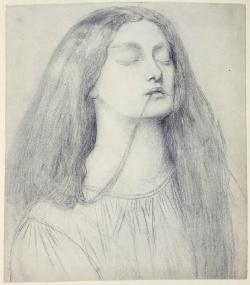 Dante Gabriel Rossetti, Elizabeth Siddal as Delia in The Return of Tibullus to Delia, c.1860-62