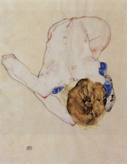 Egon Schiele, Woman's back, 1912