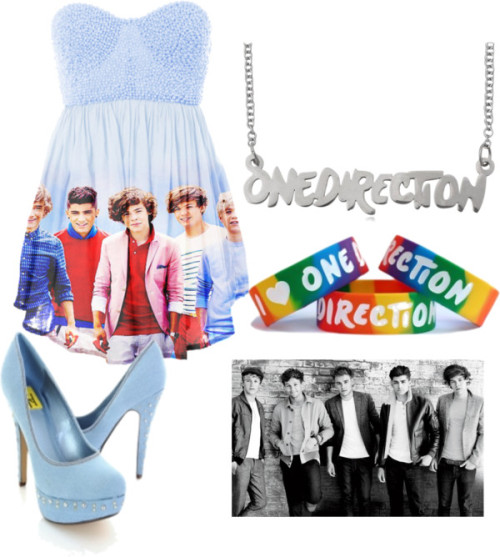 One Direction <3 von smily, stainless steel jewelry enthaltendPlatform high heels / Bangle bracelet / Stainless steel jewelry