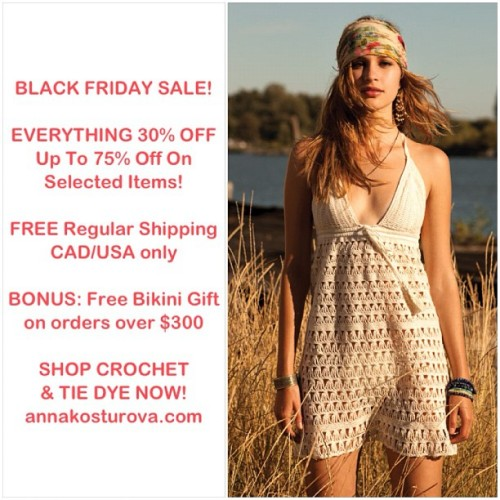 annakosturova:  Black Friday Sale peeps! Also see our twitter/FB for #bikini #giveaway #contest info  You need my girl Anna's stuff in your life. DOO EEET!