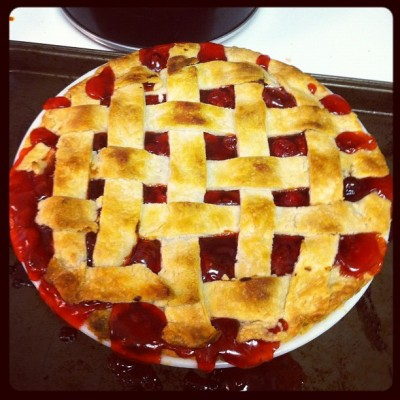One cherry pie down, one apple to go! I love Thanksgiving. #pie #thanksgiving
