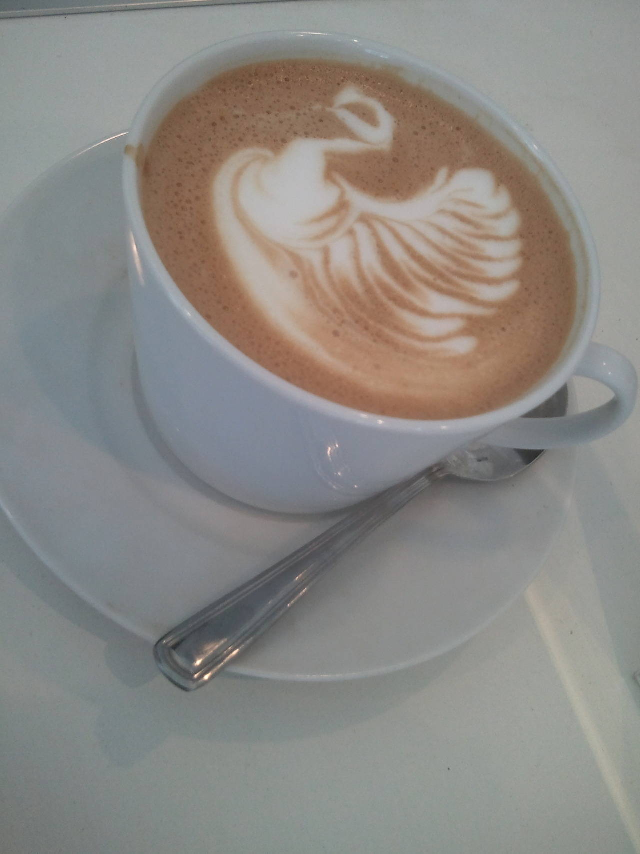 Just in time for American Thanksgiving.   Latte at Farenheit coffee
