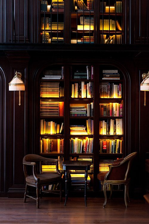 vacationinparadise:  Lighted Bookcase, New York City photo via thesouthern
